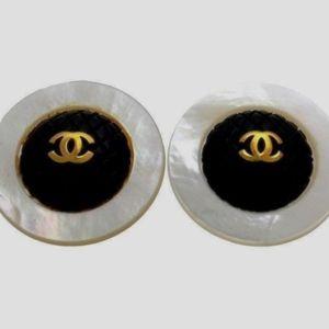 Authentic Large Vintage Chanel CC Logo Earrings